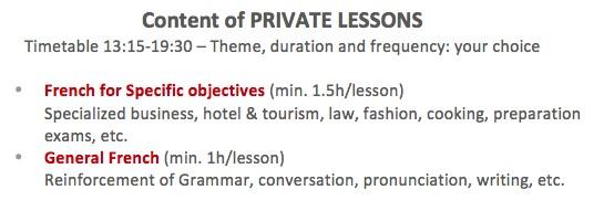 Lutece Langue, private lessons
