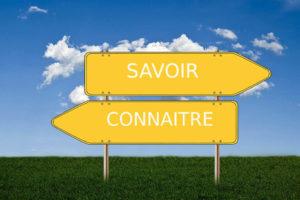 Savoir et connaitre: leçon de français