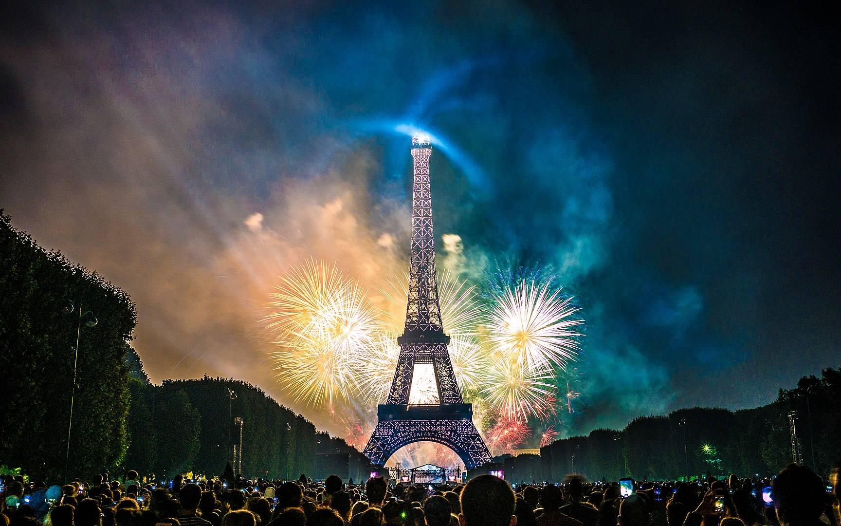 Fireworks above Paris